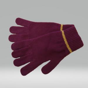 SCARLET AND GOLD GLOVES 100% LAMBSWOOL