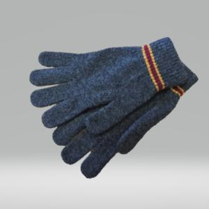 CHARCOAL AND SCARLET GLOVES 100% LAMBSWOOL