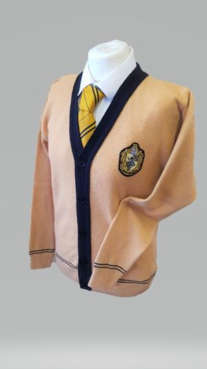 OFFICIAL WARNER BROS. HARRY POTTER HUFFLEPUFF QUIDDITCH CARDIGAN