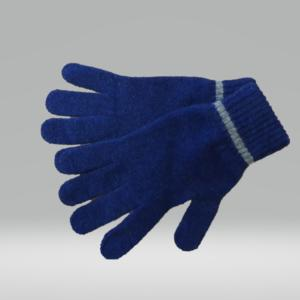 BLUE AND SILVER GLOVES 100% LAMBSWOOL