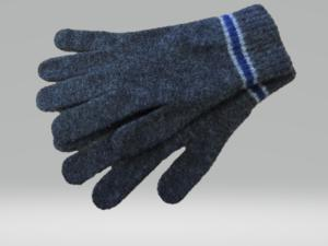 CHARCOAL AND BLUE GLOVES 100% LAMBSWOOL