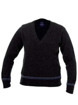 BLUE AND SILVER SWEATER 100%LAMBSWOOL