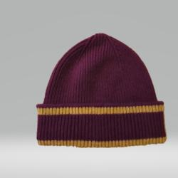 SCARLET AND GOLD HAT 100% LAMBSWOOL
