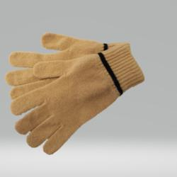 CANARY YELLOW AND BLACK GLOVES 100% LAMBSWOOL