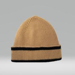 CANARY YELLOW AND BLACK HAT 100% LAMBSWOOL