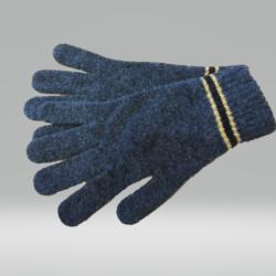 CHARCOAL AND YELLOW GLOVES 100% LAMBSWOOL