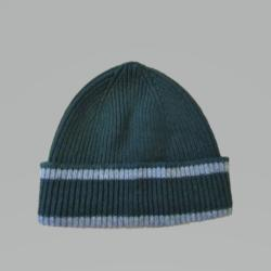 GREEN AND SILVER HAT 100% LAMBSWOOL