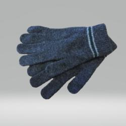 CHARCOAL AND GREEN GLOVES 100% LAMBSWOOL