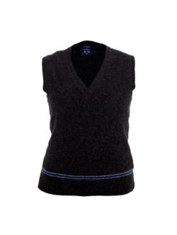 BLUE AND SILVER TANK TOP 100% LAMBSWOOL
