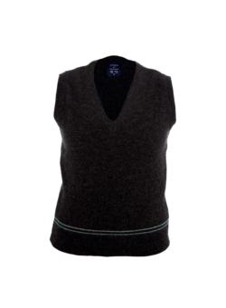 GREEN AND SILVER TANK TOP 100% LAMBSWOOL