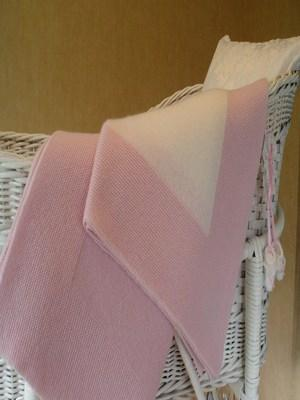 Pink and White Cashmere Baby Blanket (90 x120cm)